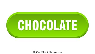 chocolate button. chocolate rounded green sign. chocolate