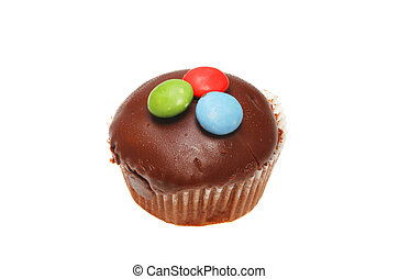 Chocolate button cup cake