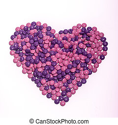 Chocolate Buttons Heart