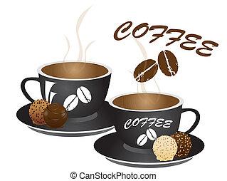 chocolate, café