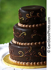 Chocolate Cake - A multi layered chocolate coffee flavored...