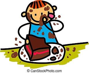 Chocolate Cake Boy