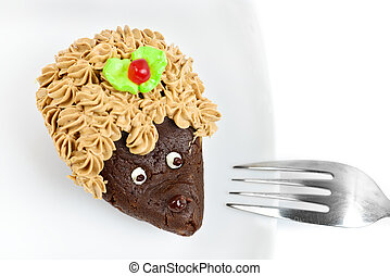 Chocolate cake  hedgehog