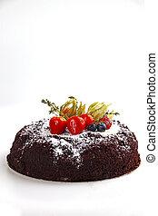 cake on the white
