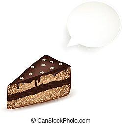 Chocolate Cake Speech Bubble