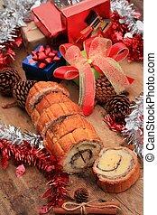 Chocolate cake yule log