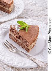 chocolate cakes with nut filling