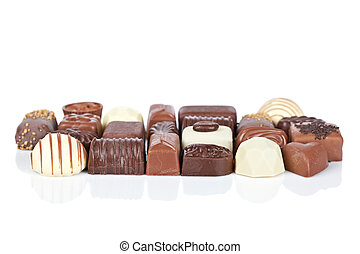 Chocolate candies assortment