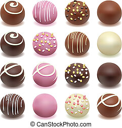 chocolate candies - vector chocolate candies