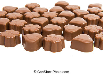 chocolate candies isolated