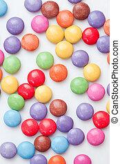 Chocolate candies multi coloured