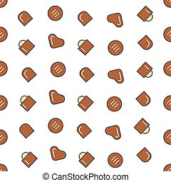 Chocolate Candies Seamless Pattern Vector Background