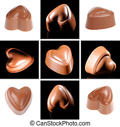 Chocolate candy collage