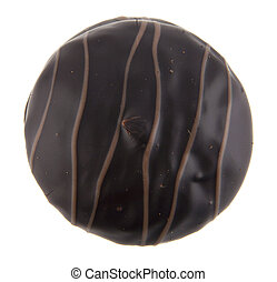 chocolate candy isolated on white background closeup