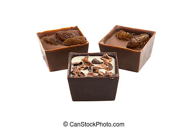 chocolate candy isolated