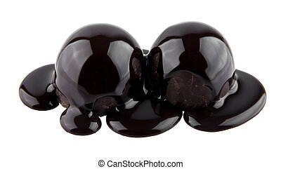 chocolate candy is isolated on a white background. picture...
