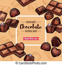 Chocolate candy, sweets and dessert - Chocolate candy and...