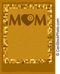 Chocolate card mom ay template. EPS 8