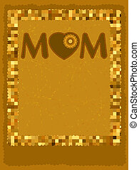 Chocolate card mom ay template. EPS 8