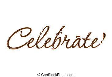 Chocolate celebrate text made of chocolate vector design...