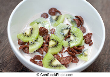 Chocolate Cereal in a bowl