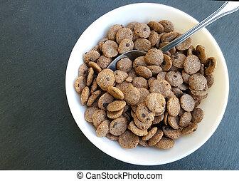 Cereales taz n chocolate plano de fondo taz n for Tazon cereales