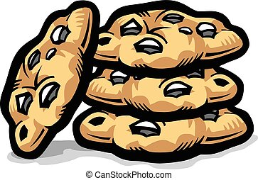 chocolate chip cookie clipart and stock illustrations 2 113 rh canstockphoto com chocolate chip cookies clipart black and white chocolate chip cookies clipart