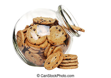 chocolate chip cookie in cookie jar