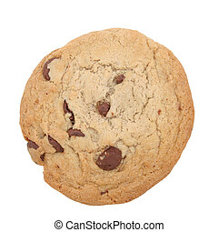 [b]8.2mp Image with Clipping Path.[/b] Big chocolate chip cookie isoalted on white with clipping path. Shot with the Canon 20D.