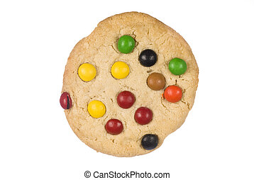 Chocolate Chip Cookie - A chocolate candy cookie with...