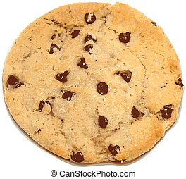 chocolate chip cookie vector illustration