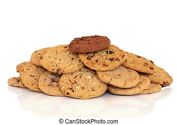 Chocolate Chip Cookies - Chocolate chip cookies with one...