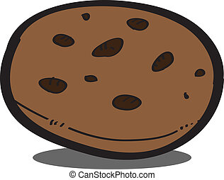 chocolate chip cookies EPS10,vector on white background