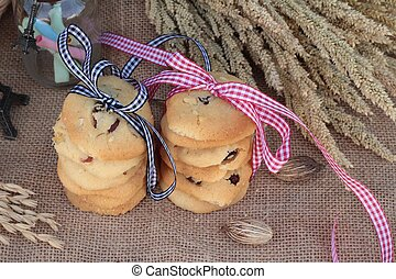 Chocolate chip cookies of delicious .