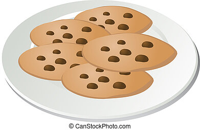 chocolate chip cookies clipart and stock illustrations 2 113 rh canstockphoto com clipart of cookies clipart of christmas cookies