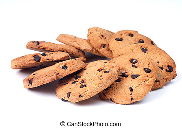 Chocolate Chips circle shape - Cookie chips with dark...