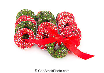 Chocolate christmas wreaths