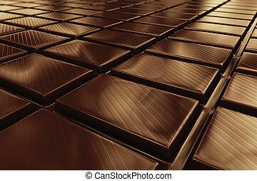 Chocolate. - Closeup on a dark brown chocolate. Most popular...