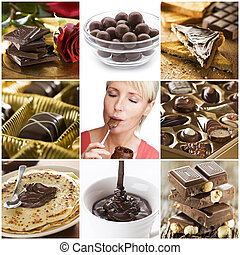 Chocolate collage - Beautiful chocolate collage made from...