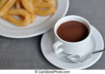 chocolate, com, churros