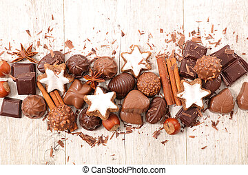 chocolate, cookie and spice