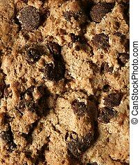 Chocolate cookie crop texture macro