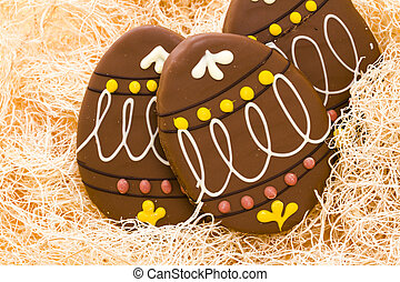 Chocolate cookie - Milk chocolate peanut butter crispy egg...