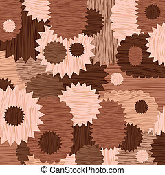 Chocolate cookies bakery illustration collection background...