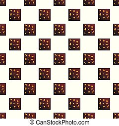 Chocolate cookies pattern seamless vector repeat for any web...