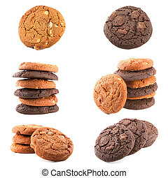 Chocolate cookies set