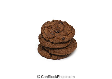 Chocolate cookies with chocolate pieces