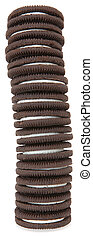 Chocolate Cream Cookies - Stack of chocolate cream cookies...