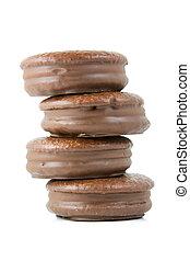 Chocolate cream pie row