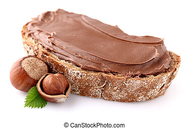 Chocolate cream with nuts